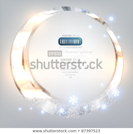 Blue background with frame of snowflakes. EPS 10 Stock photo © beholdereye