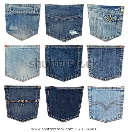 texture of jeans pocket Stock photo © OleksandrO