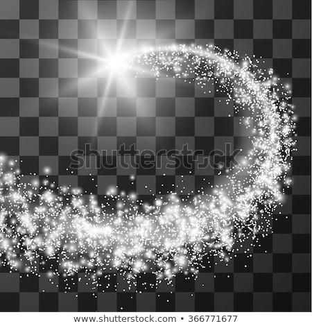 белый Swirl комета космический темно ярко Сток-фото © blackmoon979