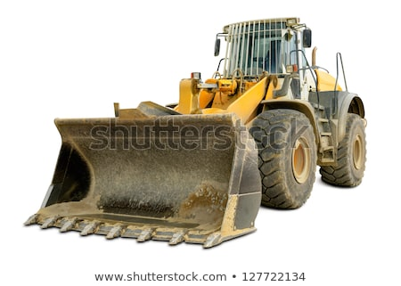Giallo bulldozer bianco illustrazione sfondo arte Foto d'archivio © bluering
