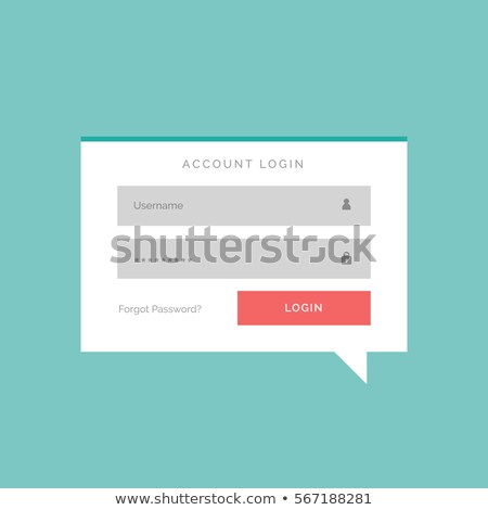 Konto login polu czat bańki stylu projektu Zdjęcia stock © SArts