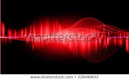 Corazón pulso oscuro pulsante ritmo gráfico Foto stock © alexaldo