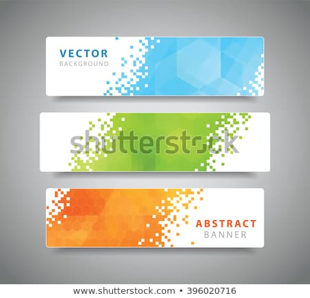 business style geometric banners and headers in blue color stock photo © sarts