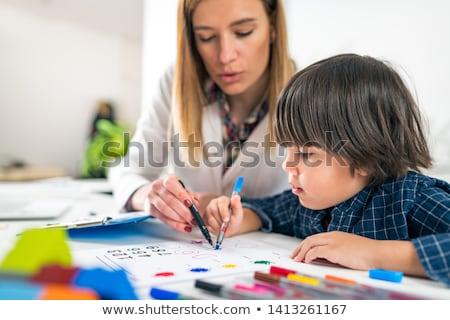 Dziecko psychologia psychiatryczny terapii dzieci podziale Zdjęcia stock © Lightsource