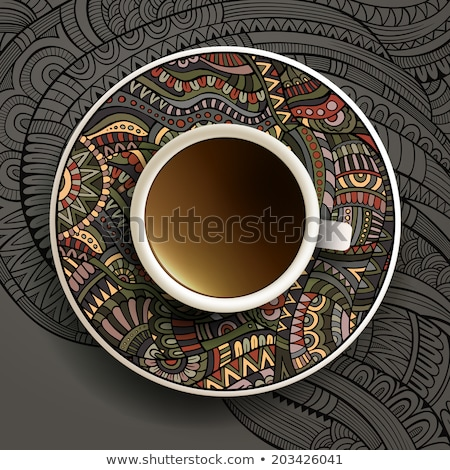 Cup Of Coffe With Abstract Design Elements Stock photo © balabolka
