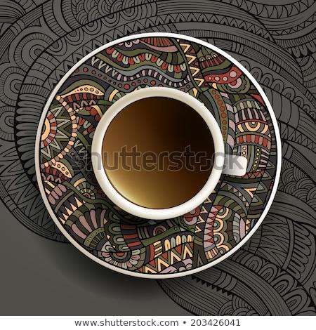 Tasse résumé design thé Photo stock © ordogz