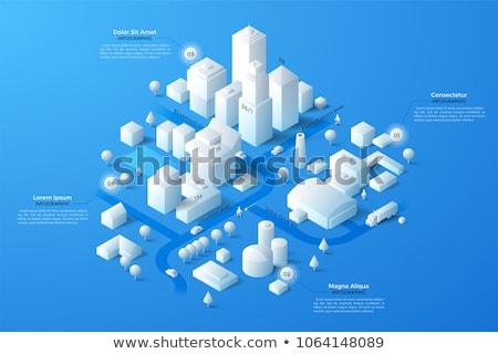 Isometric City Building Vector. Isometry Stock photo © robuart