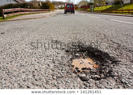 Asphalt road hole damage Stock photo © stevanovicigor