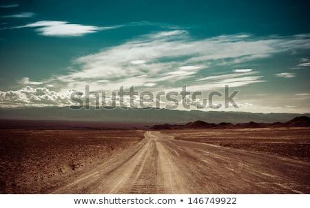 пусто дороги западной пустыне иллюстрация небе Сток-фото © bluering