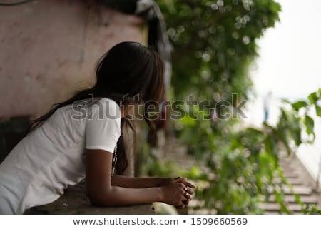 Girl turn back stock photo © sapegina