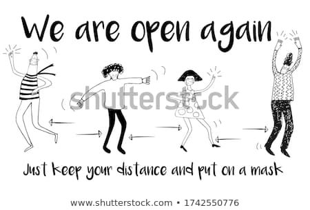 We are open written on a banner Stock photo © Zerbor