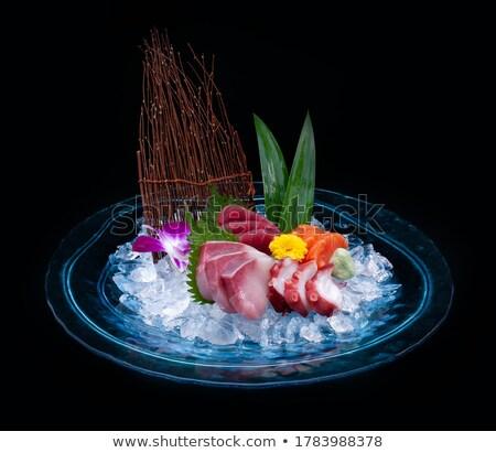 Cuatro mariscos placa ilustración alimentos naturaleza Foto stock © bluering
