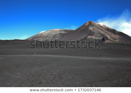 Mount Etna peak with snow and volcanic rocks, Sicily, Italy Stock photo © ankarb