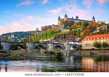 Medieval beautiful towns of Germany - Wurzburg. View with old bridge Stock photo © Freesurf