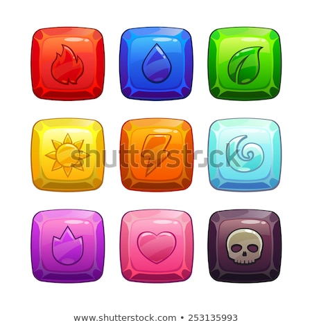 rounded gems diamonds icons and buttons stock photo © benchart