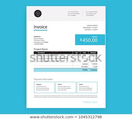 business · fattura · vettore · modello · design · carta - foto d'archivio © sarts