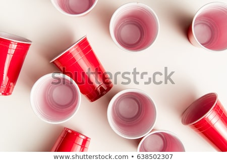 Haut vue plastique jetable tasse isolé Photo stock © LightFieldStudios
