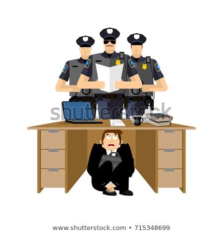 бизнесмен · страшно · таблице · подчеркнуть · испуганный · Boss - Сток-фото © popaukropa