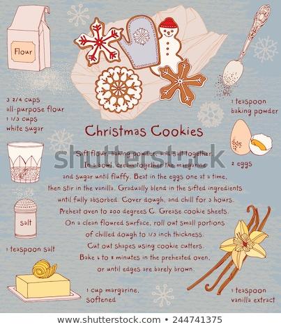 vaj · sütik · karácsony · lekvár · cukor · csillag - stock fotó © alex9500