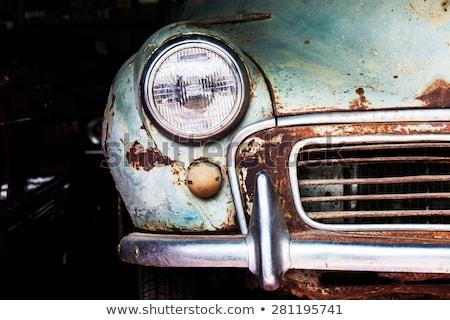 Részlet régi autó fényszóró szállítás város test Stock fotó © zeffss