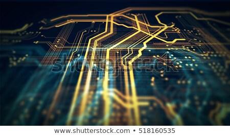 Tecnología de la información 3d reloj de bolsillo texto cara negocios Foto stock © tashatuvango