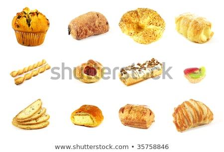 Stockfoto: Appel · vla · zoete · brood · vulling
