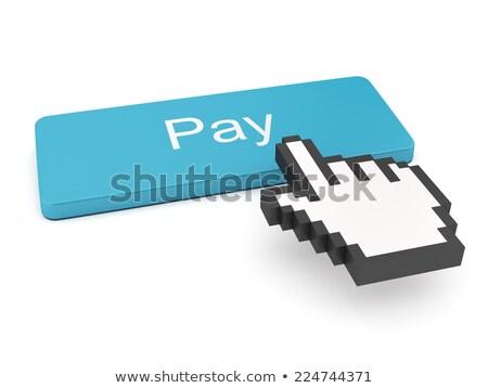 Azul banco transferir botón teclado Foto stock © tashatuvango