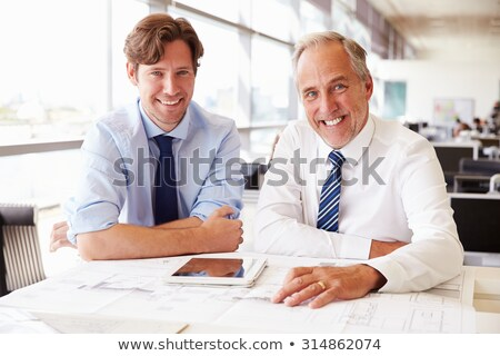 Two Businessmen smiling Stock photo © IS2
