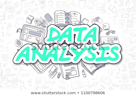 Data Processing - Doodle Green Word. Business Concept. Stock photo © tashatuvango