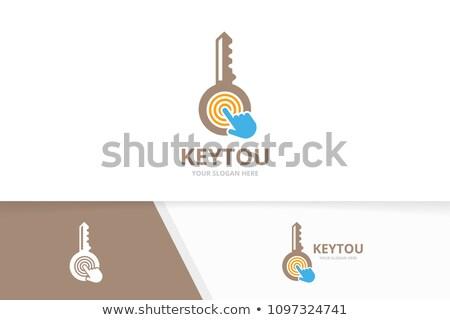 Mão dedo imprensa único clique chave Foto stock © tashatuvango
