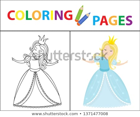 Boyama kitabı sayfa kroki renk versiyon Stok fotoğraf © lucia_fox
