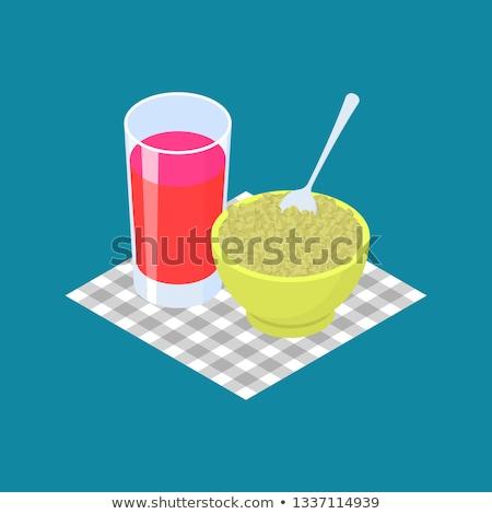 gyümölcslé · reggeli · egészséges · étel · vektor · étel · gyümölcs - stock fotó © maryvalery