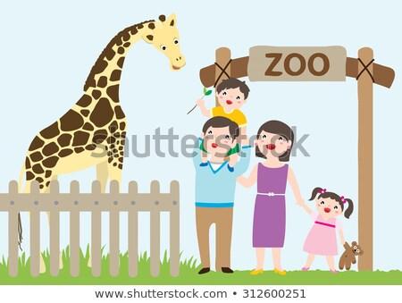 çocuklar ziyaret hayvanat bahçesi gün zaman örnek Stok fotoğraf © bluering