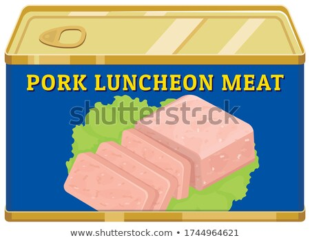 Carne alumínio lata ilustração comida Foto stock © bluering