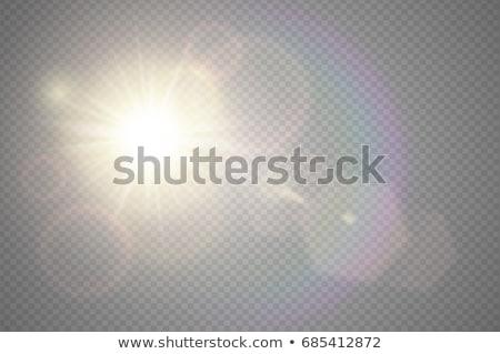 şeffaf · altın · ışık · etki · vektör · yangın - stok fotoğraf © sarts