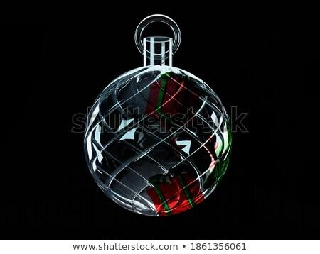 Terv üveg csecsebecse ajándék bent kristály Stock fotó © studioworkstock