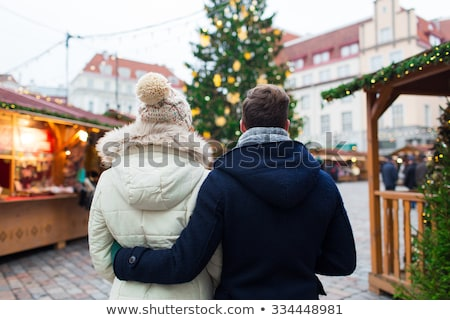 Stock photo: close up of christmas tree at old town in tallinn