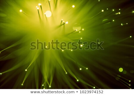 top view of glowing yellow fiber optics background Stock photo © LightFieldStudios