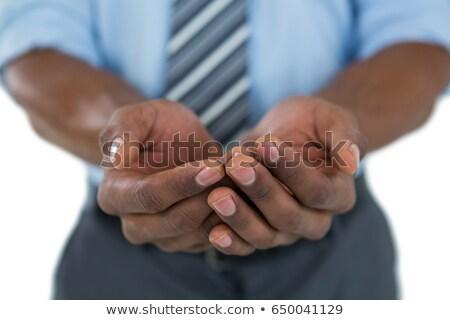 Középső rész üzletember felajánlás segítő kéz fehér nő Stock fotó © wavebreak_media
