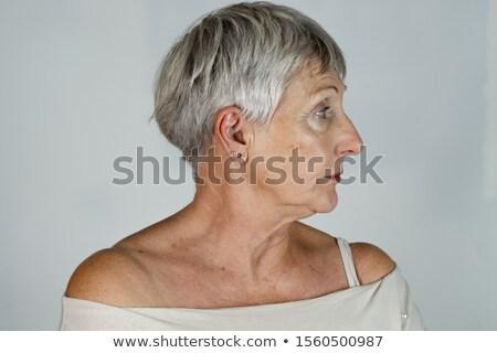 Profil topless kobieta piersi kobiet cień Zdjęcia stock © IS2
