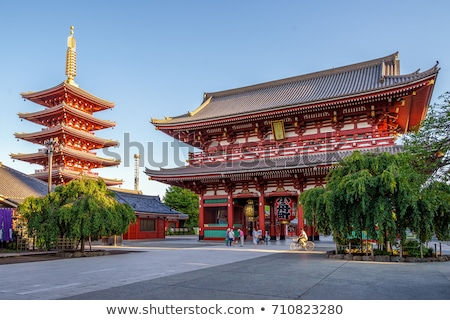 Linterna puerta templo Tokio Japón rojo Foto stock © daboost
