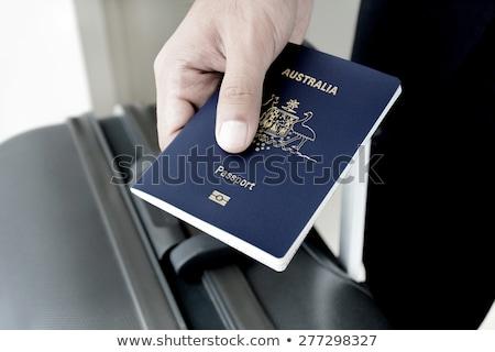 australiano · passaporte · azul · ver · férias - foto stock © jeayesy