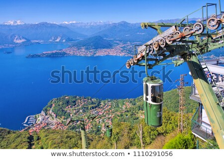 Sasso del Ferro ropeway on lake Lago Maggiore Stock photo © LianeM