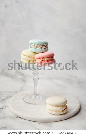 Frans macarons licht grijs beton vakantie Stockfoto © Melnyk