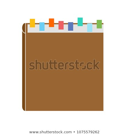 Knowledge base. Directory with bookmarks. Thick book Stock photo © popaukropa