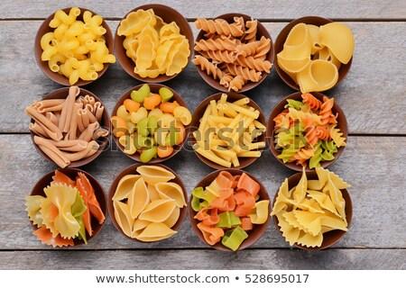 Macaroni verschillend boven schotel tabel Stockfoto © dash
