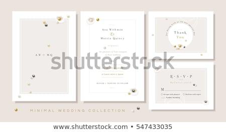 şık düğün davetiyesi düğün doğa dizayn Stok fotoğraf © SArts