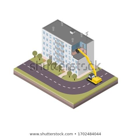 demolição · casa · velha · reconstrução · parede · janela · urbano - foto stock © cookelma