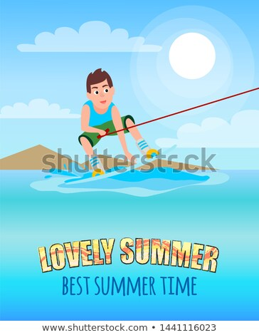 Amor verão o melhor verão esportes atividade Foto stock © robuart