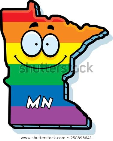 Cartoon Minnesota matrimonio gay illustrazione sorridere Rainbow Foto d'archivio © cthoman